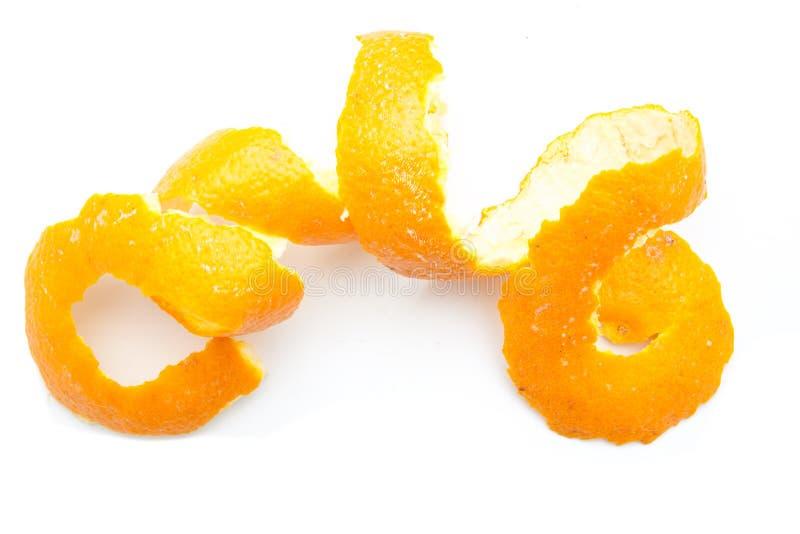 Torção alaranjada da casca do citrino foto de stock