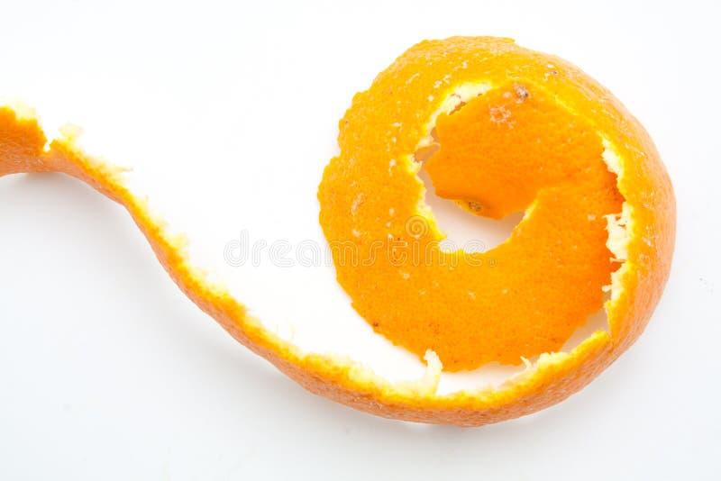 Torção alaranjada da casca do citrino imagens de stock