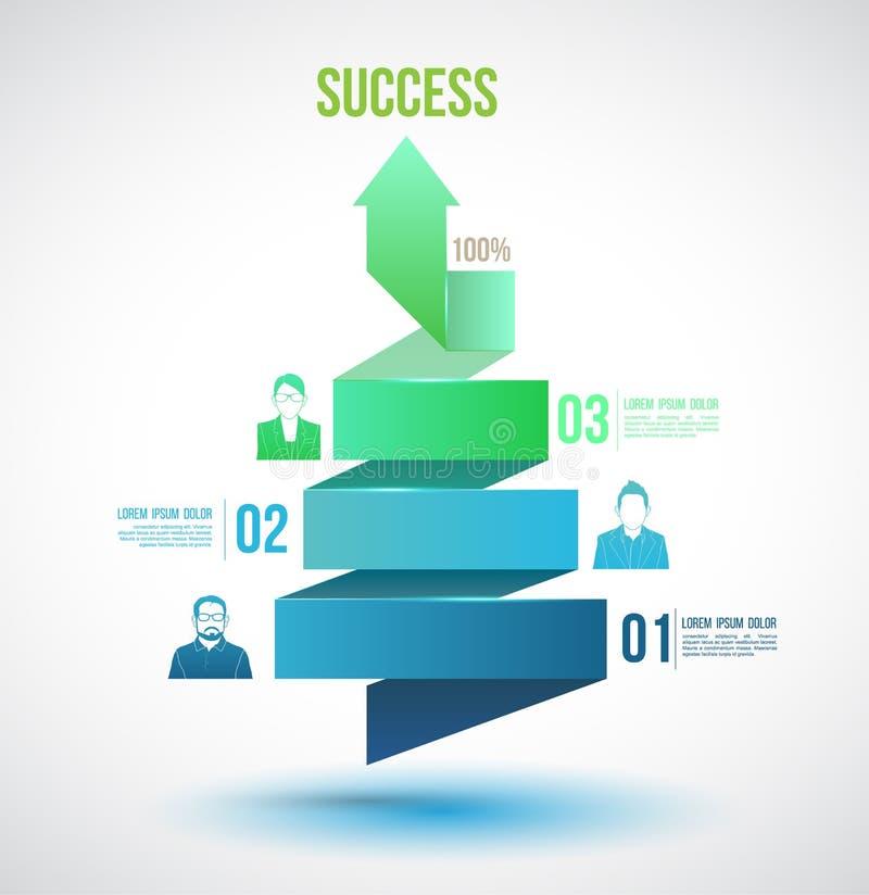 Torção da seta até opções do número do sucesso ilustração stock