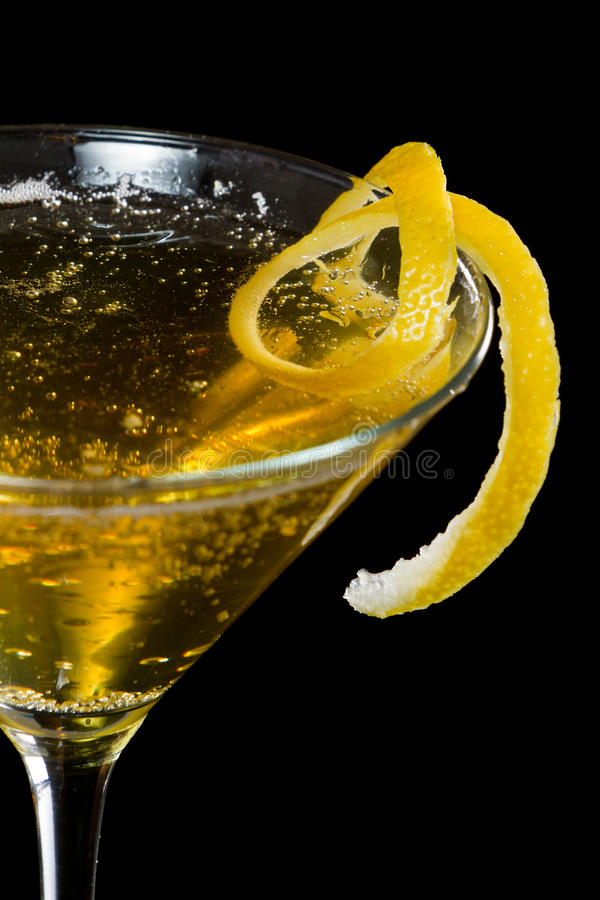 Torção do limão fotografia de stock