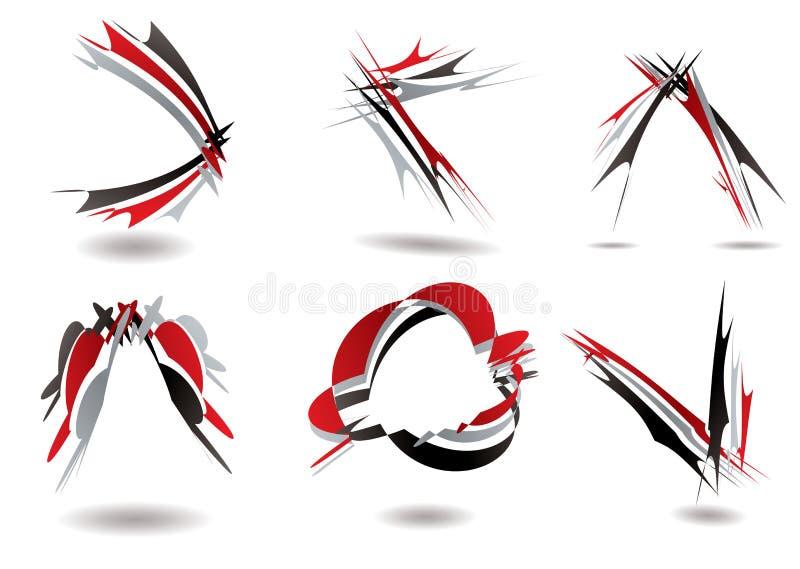 Torção do logotipo da fita ilustração do vetor
