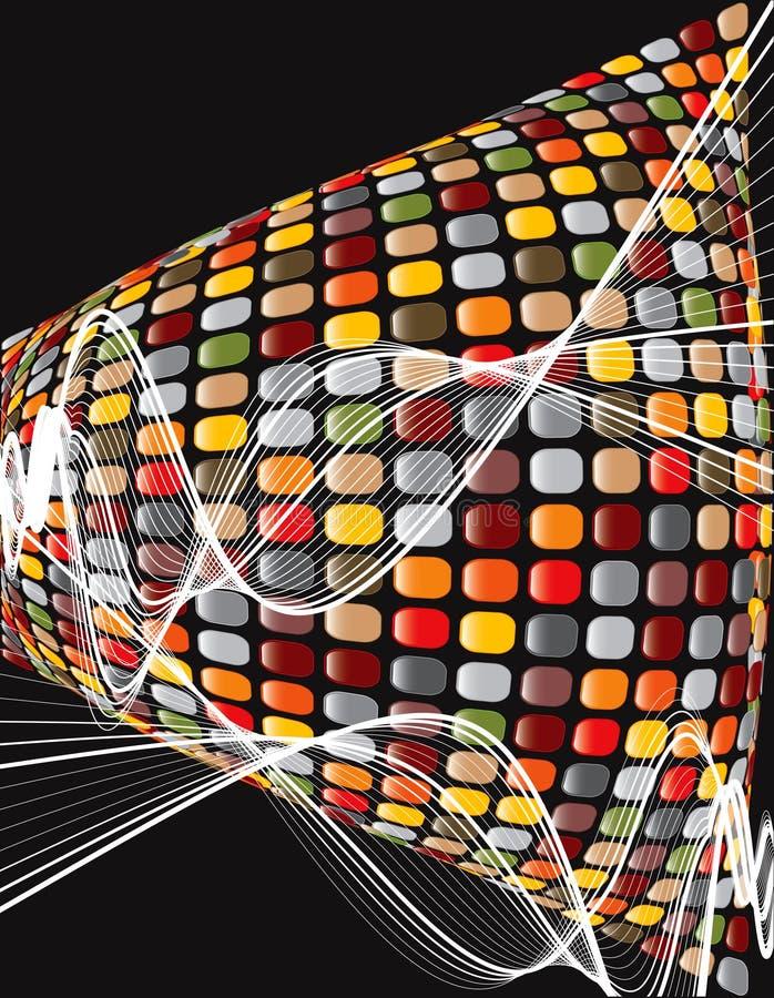 Torção marrom do mosaico do disco ilustração do vetor