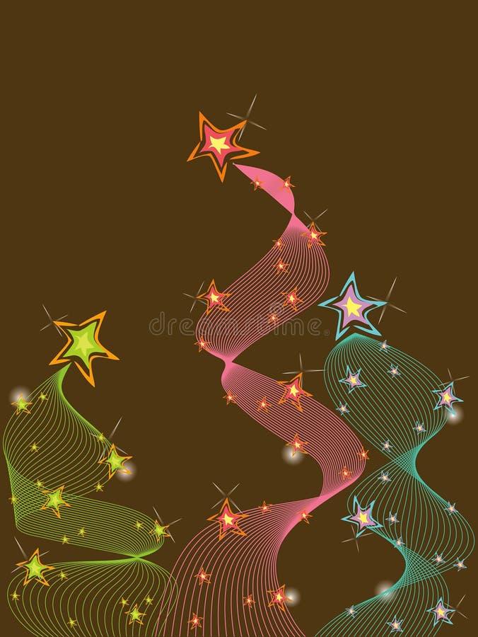 torção pastel de 3 estrelas do glitter ilustração do vetor
