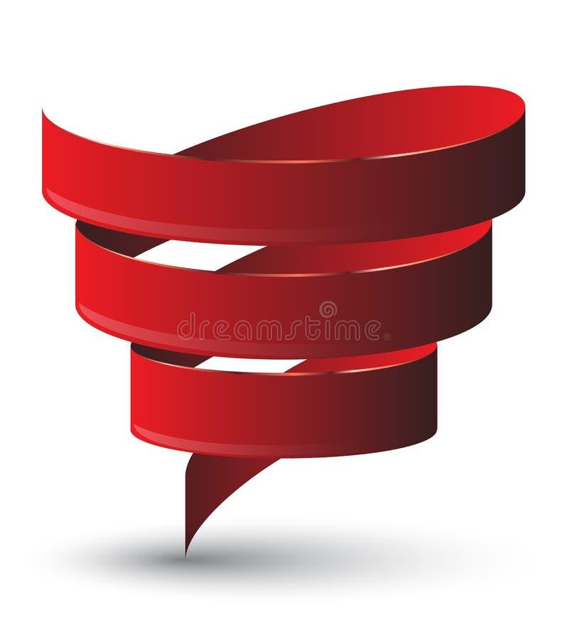 Torção vermelha da fita ilustração royalty free