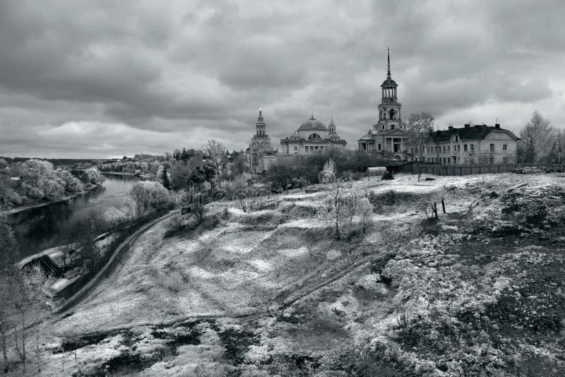 Toržok nell'inverno Paesaggio russo Rebecca 36 fotografie stock
