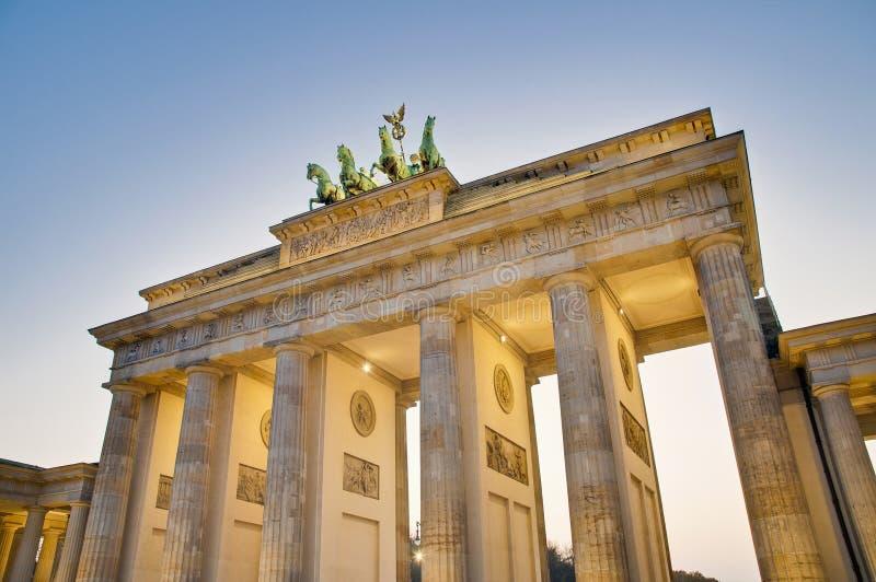 Tor Brandenburger на Берлин, Германии стоковая фотография