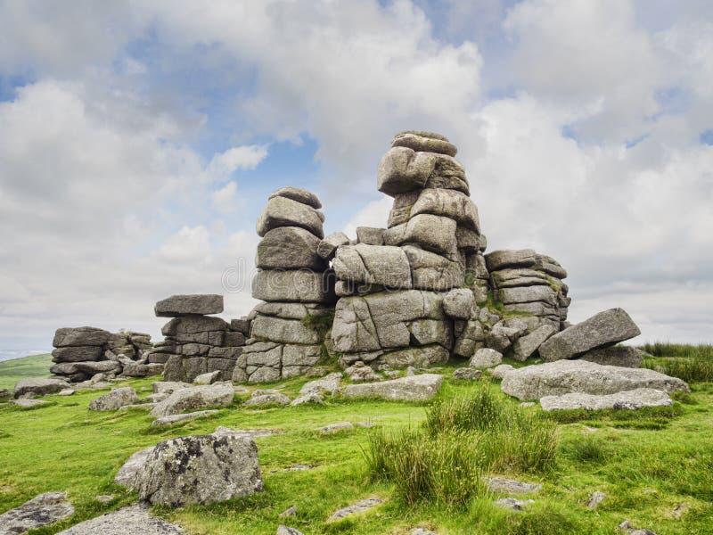Tor BRITANNICO della graffetta di Dartmoor Devon grande immagini stock