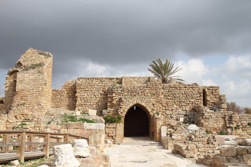 Tor - Caesarea - Israel lizenzfreie stockfotos