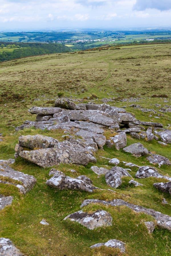 Tor de Belstone en Dartmoor fotografía de archivo libre de regalías