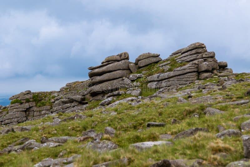 Tor de Belstone en Dartmoor imagen de archivo libre de regalías