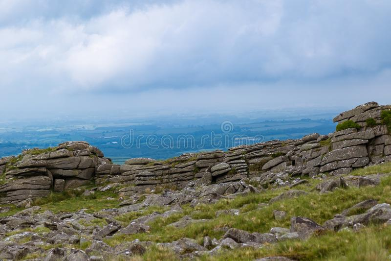 Tor de Belstone en Dartmoor fotografía de archivo
