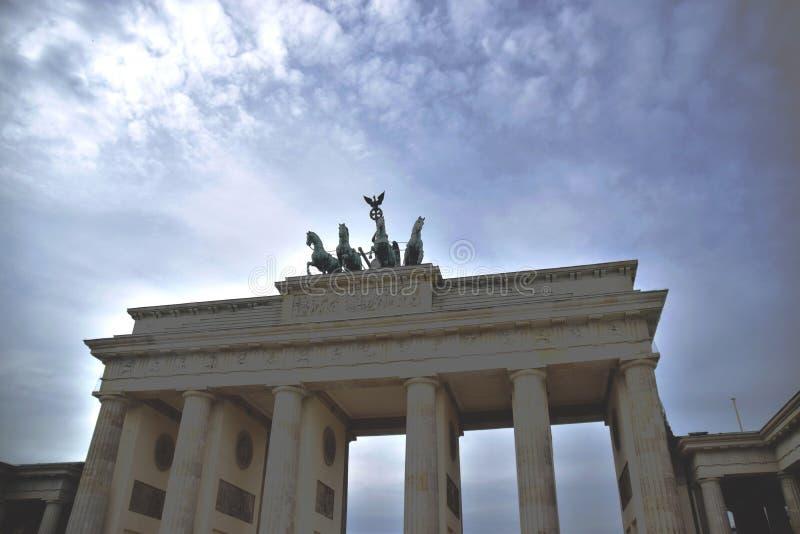 Tor de Brandenburger em Berlim fotografia de stock