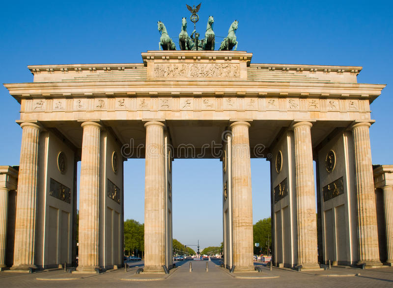 Tor de Brandenburger en Berlín foto de archivo