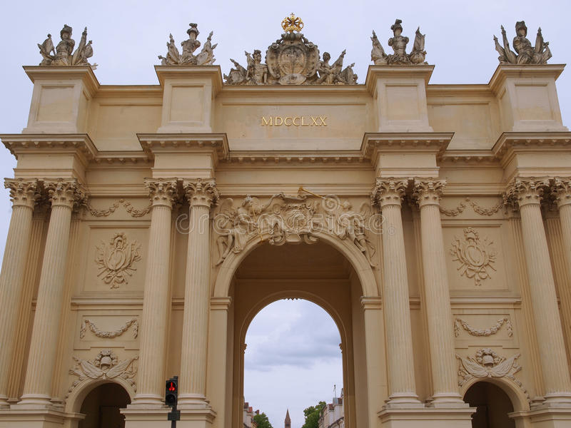 Tor de Brandenburger en Potsdam Berlín fotos de archivo libres de regalías