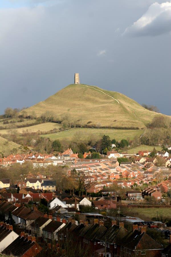 Tor de Glastonbury, Inglaterra fotos de stock royalty free
