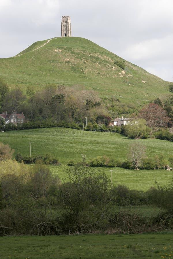 Tor de Glastonbury, Somerset imagem de stock