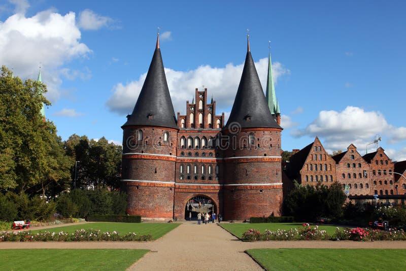Tor de Holsten en Alemania Lübeck imagen de archivo libre de regalías