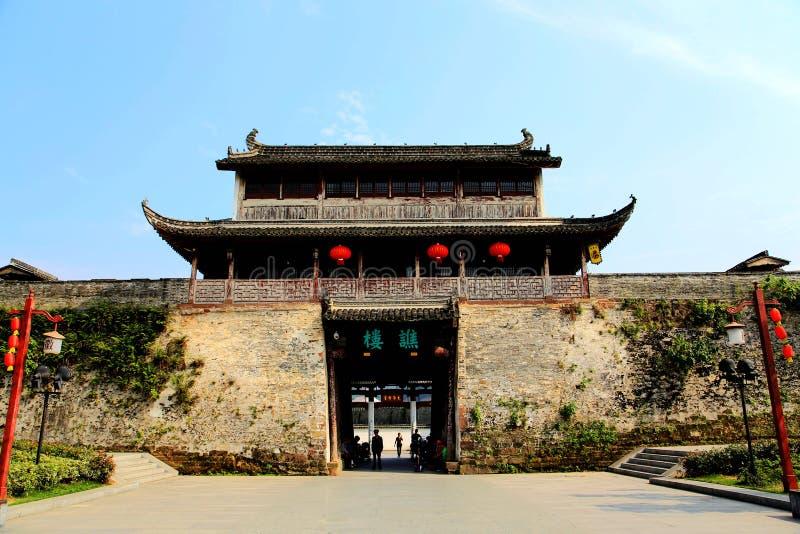Tor der alten Stadt von Huizhou stockfotos