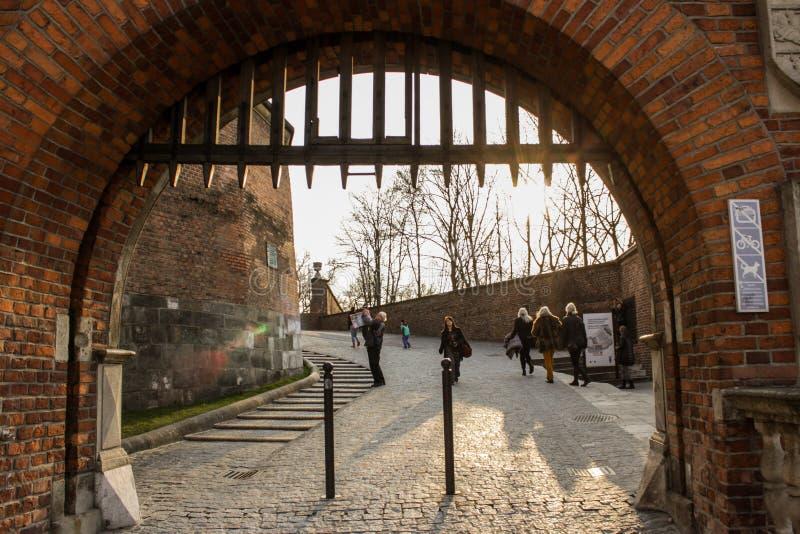 Tor des Schlosses in Polen lizenzfreies stockfoto