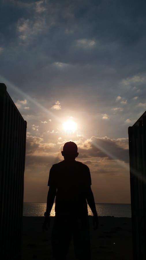 Tor des Sonnenuntergangs lizenzfreie stockbilder