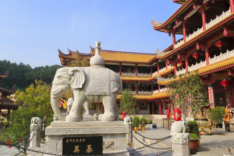 Tor des tianzhuyan Tempels lizenzfreie stockfotos