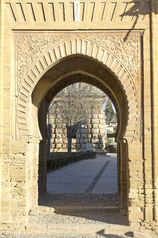 Tor des Weins alhambra stockfotos