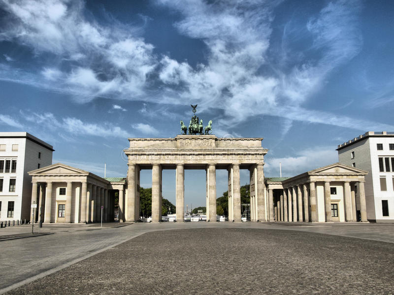 Tor di Brandenburger, Berlino fotografie stock libere da diritti