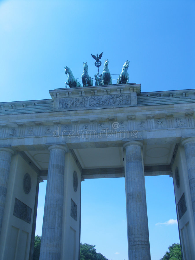 Tor di Brandenburger, Berlino immagini stock libere da diritti