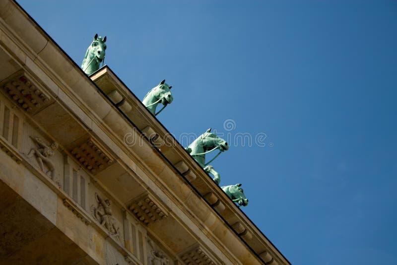 Tor di Brandenburger a Berlino Germania fotografia stock