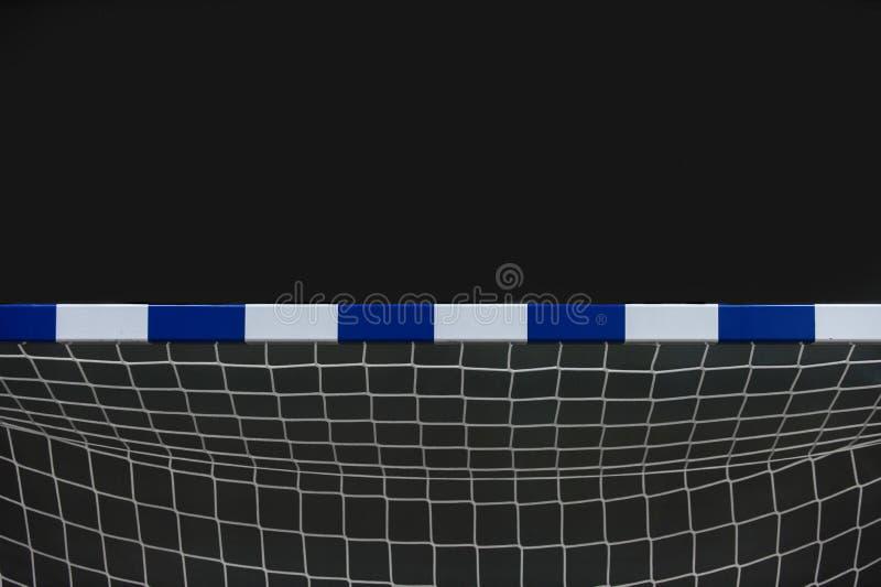 Tor für futsal oder Handball in der Turnhalle Detail des Torrahmens und -netzes Fußball- oder Handballspielplatz im Freien stockbilder