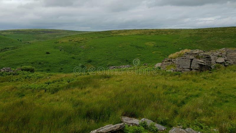 Tor preto & x28; Dartmoor& sul x29; , Brent sul, parque nacional de Dartmoor imagem de stock royalty free