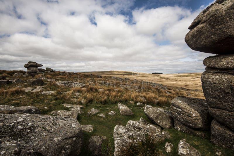 Tor preto em Dartmoor, Devon, Inglaterra fotos de stock royalty free