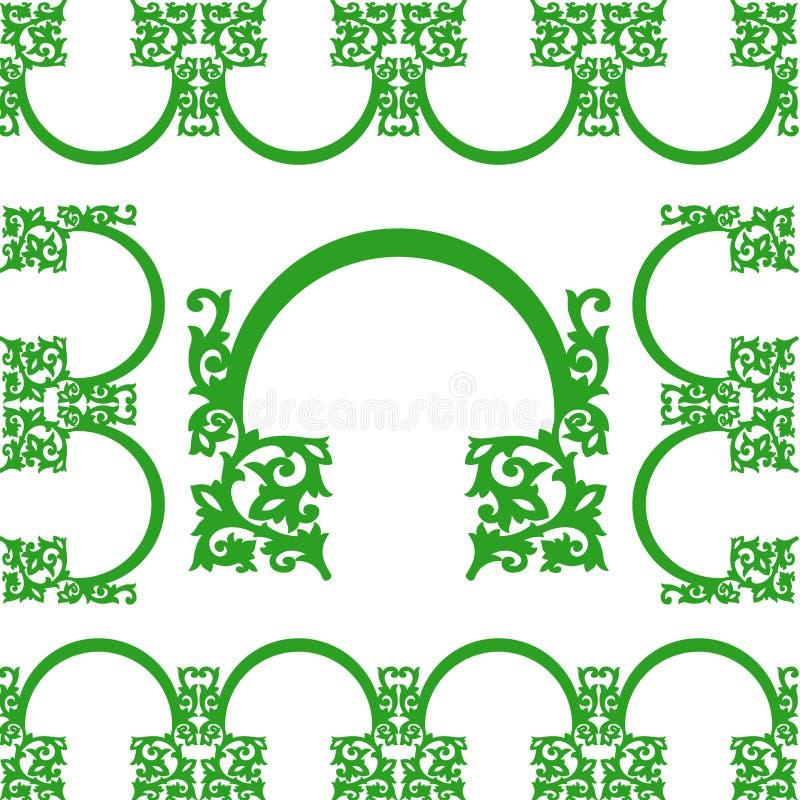 Tor-Stich-Muster-Weinlese-Art stock abbildung