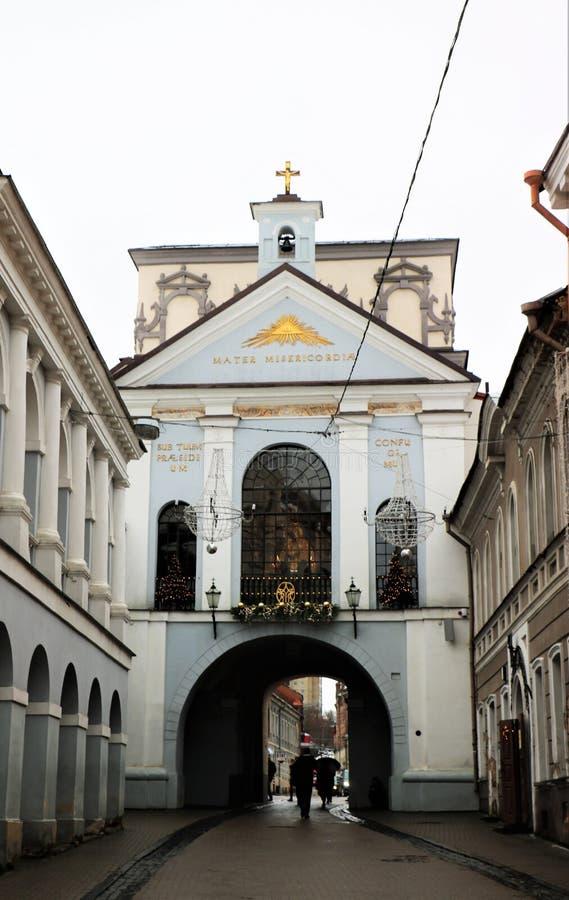 Tor von D?mmerung, Vilnius, Litauen lizenzfreies stockfoto