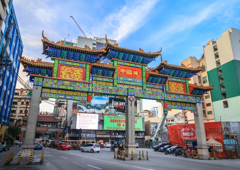 Tor von Manila Chinatown in Manila lizenzfreies stockfoto