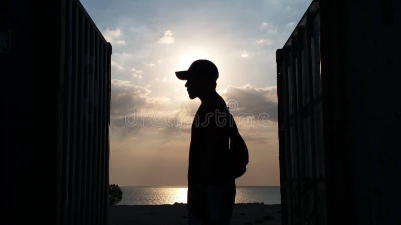 Tor von Sonnenuntergang II stockfotos
