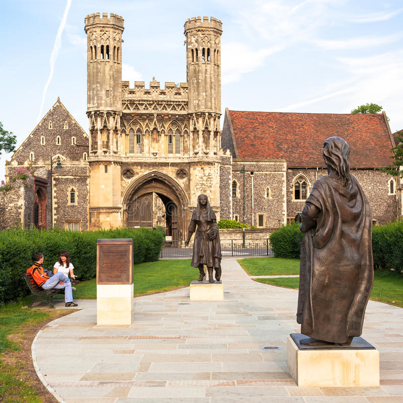 Tor von St- Augustine` s Abtei Canterbury, Kent, Großbritannien lizenzfreie stockbilder
