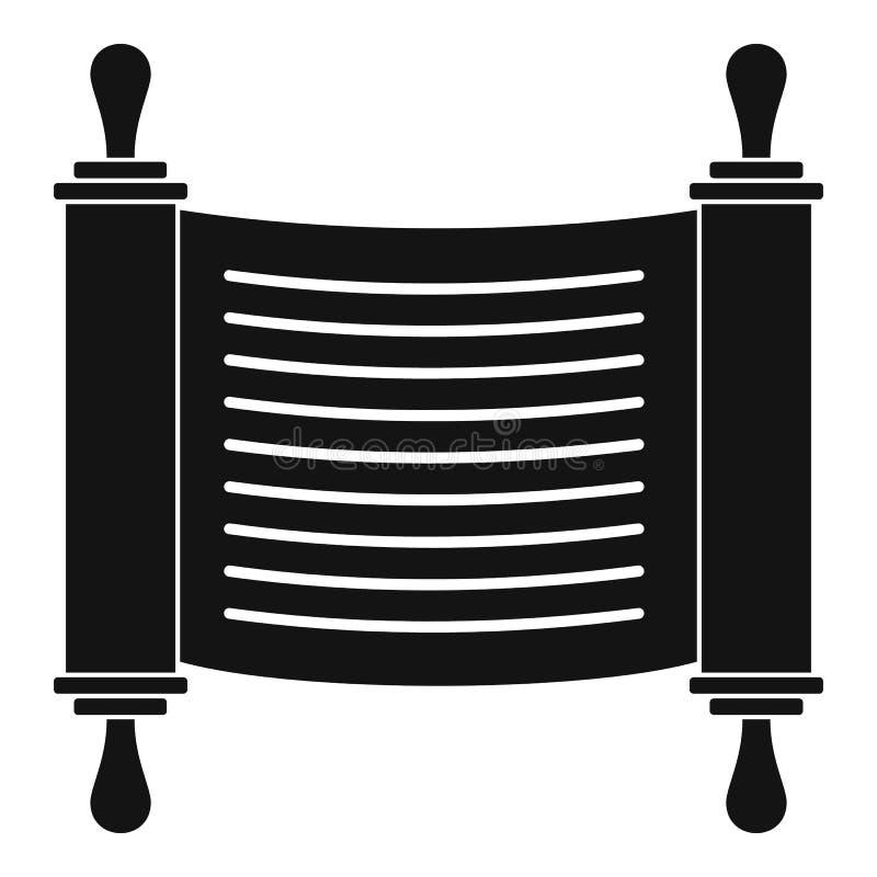 Torah ślimacznicy ikona, prosty styl ilustracja wektor
