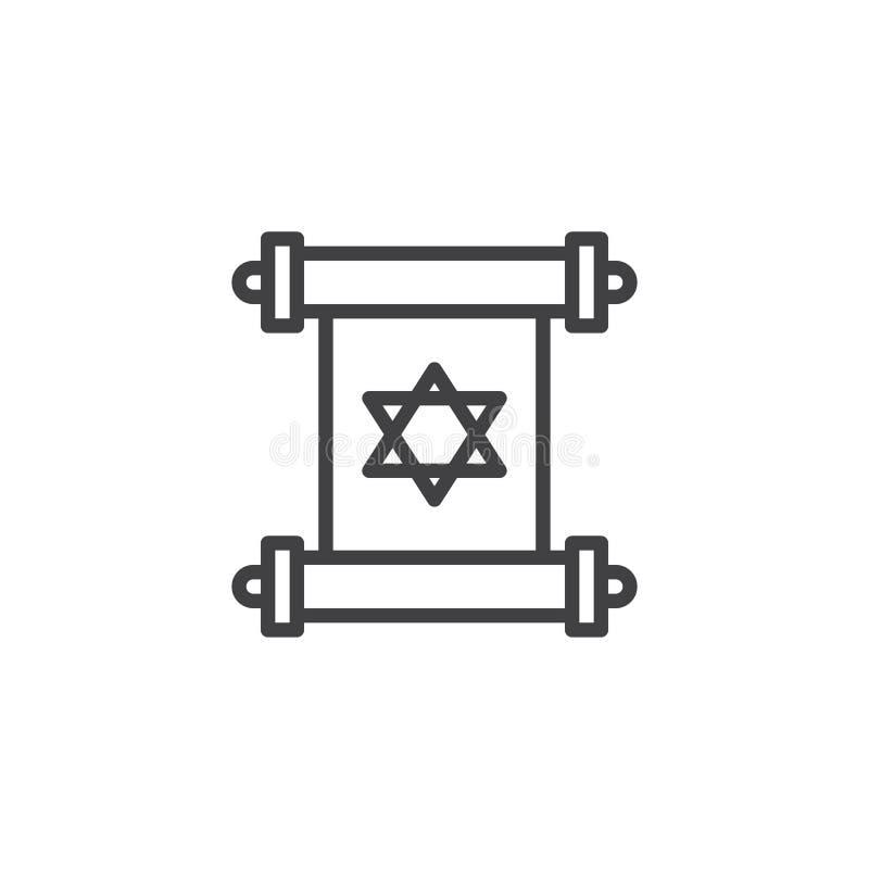 Torah ślimacznicy konturu ikona ilustracja wektor