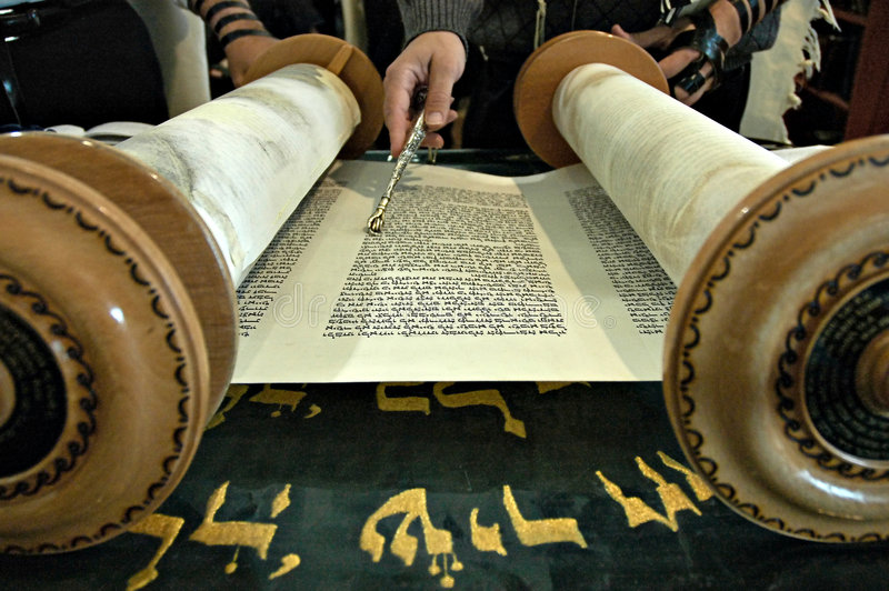 torah синагоги чтения стоковая фотография