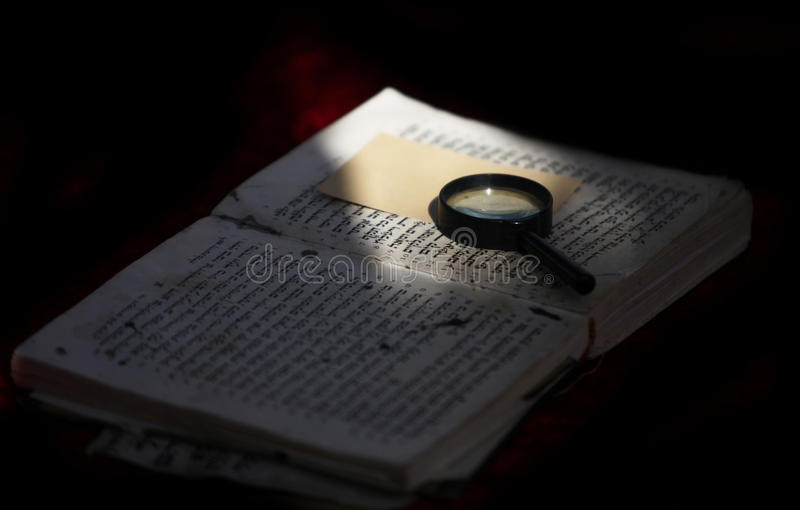 Torah. Torus sacred book of the Jewish people of faith is an open royalty free stock photo