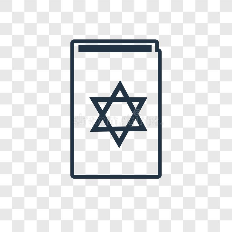 Torah Book concept vector linear icon isolated on transparent ba vector illustration