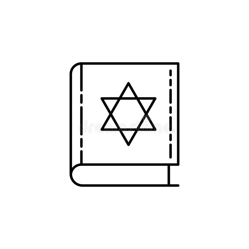 Torah Book icon. Element of Jewish icon for mobile concept and web apps. Thin line Torah Book icon can be used for web and mobile vector illustration