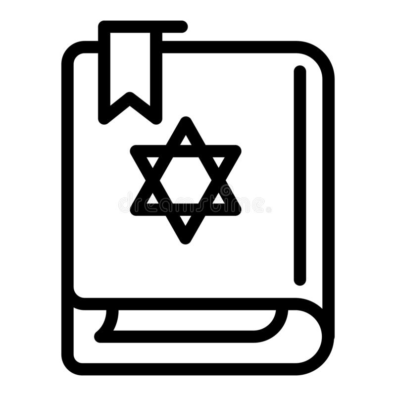 Torah book icon, outline style vector illustration