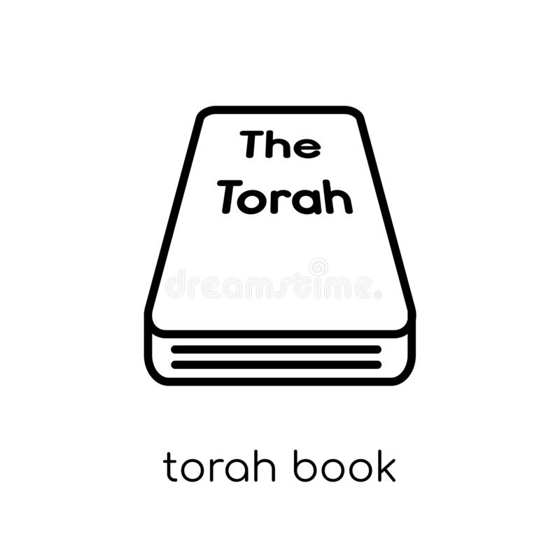 Torah Book icon. Trendy modern flat linear vector Torah Book icon on white background from thin line Religion collection stock illustration