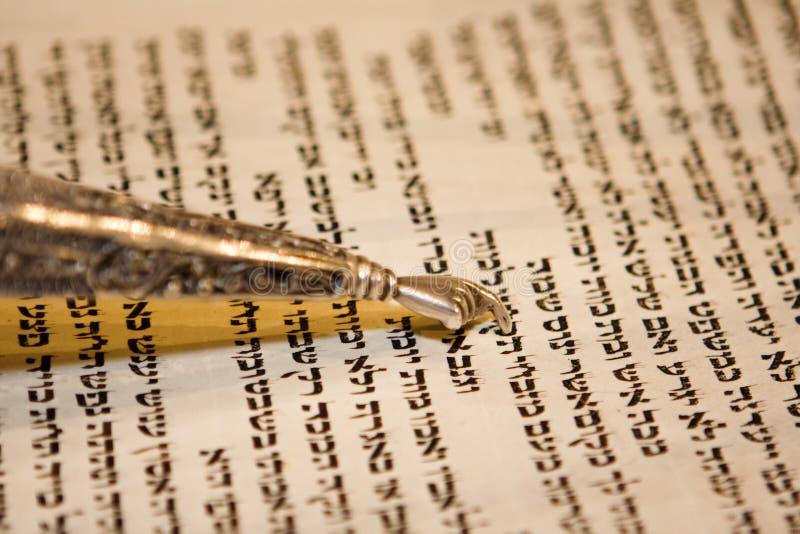 Torah e Yad fotos de stock