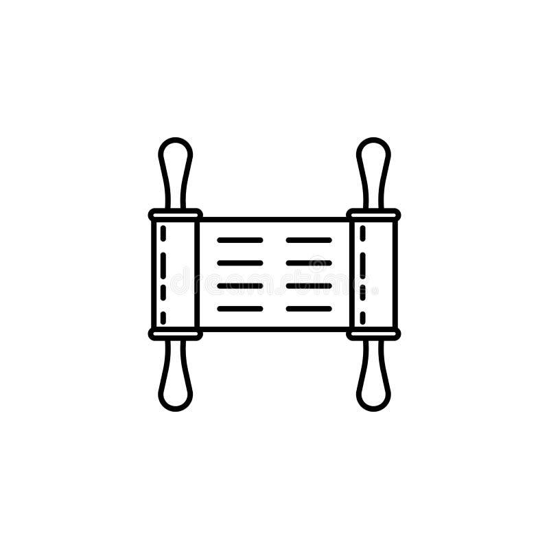Torah-Ikone Element der jüdischen Ikone für bewegliche Konzept und Netz apps Dünne Linie Torah-Ikone kann für Netz und Mobile ben vektor abbildung