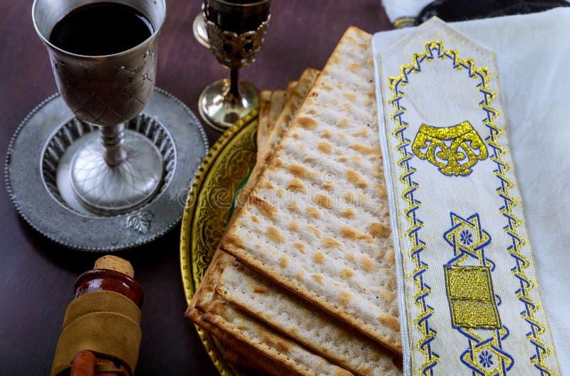 torah judío del pan del passover del matzoh de la celebración del matzoth del día de fiesta fotos de archivo