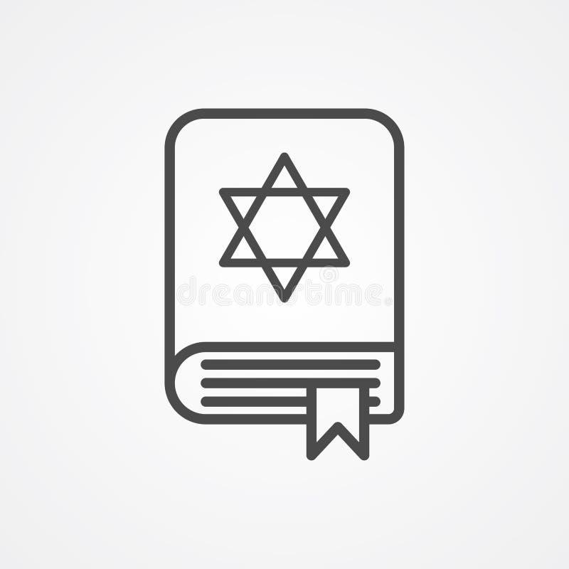 Torah książki ikony znaka wektorowy symbol ilustracja wektor