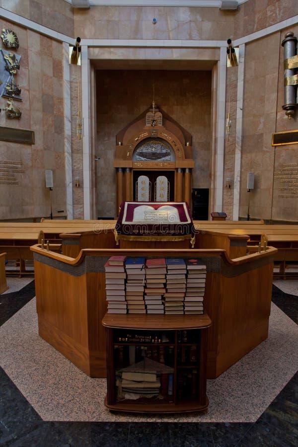 Torah läsningställe, böcker och helgedomen av holies inre av t arkivfoton